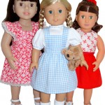 18 Inch American Girl doll clothes patterns pinafore dress and skirt
