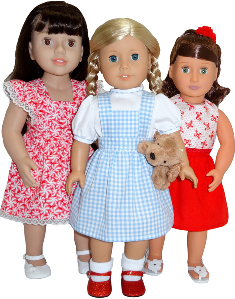 18 Inch American Girl Pinafore Dress and Skirt doll clothes pattern