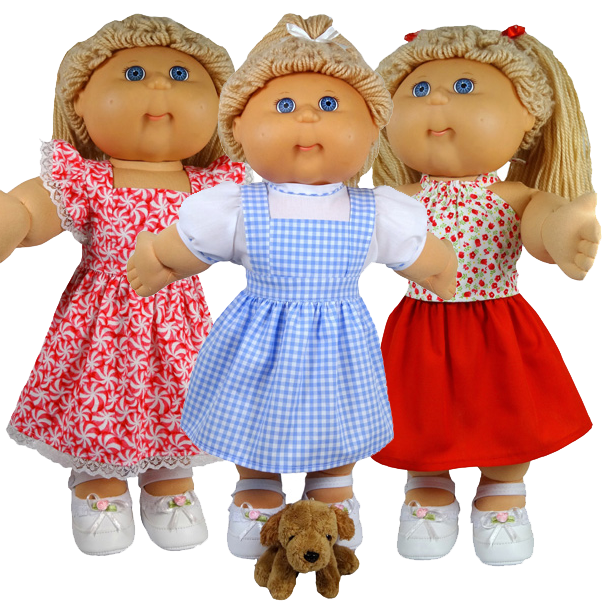 Cabbage Patch Doll Clothes Pattern Pinafore Dress and Skirt
