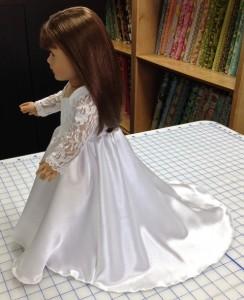 18 Inch American Girl Wedding dress side Sherry