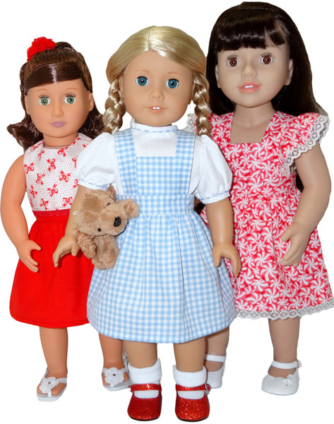 American Girl Doll Clothes Pattern pinafore dress skirt