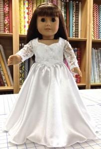 18 Inch American Girl wedding dress Sherry