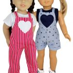 18 Inch American Girl Short and Long Overalls Doll Clothes Pattern
