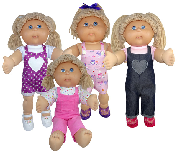 Cabbage Patch Doll Clothes Pattern Overalls for all Seasons