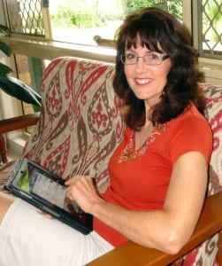 Rosie with iPad