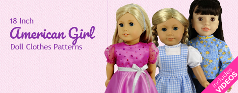 18 Inch American Girl Doll Clothes Patterns with image of dolls in dresses