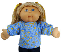 Cabbage Patch Kids Doll Clothes Patterns Blouse Long Sleeve