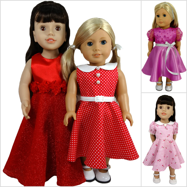 18 Inch Doll Clothes Pattern for American Girl and similar dolls | Rosies Doll Clothes Patterns