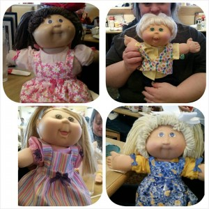 Cabbage Patch dolls with Pinafore Dress