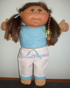barb hill 35cm Cabbage Patch crop top and capri pants