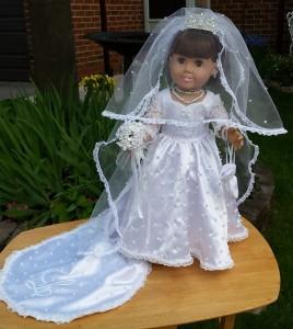 American Girl Doll Clothes Wedding Dress Sharon