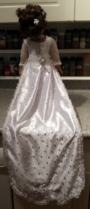 American Girl Doll Clothes Wedding Dress Sharon back view of train
