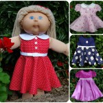 Cabbage Patch Kids Doll Clothes Pattern 50s Vintage Dress