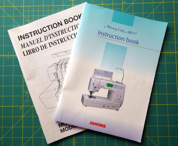 Sewing machine manuals