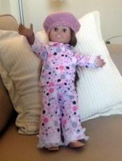 winter pyjamas doll clothes pattern