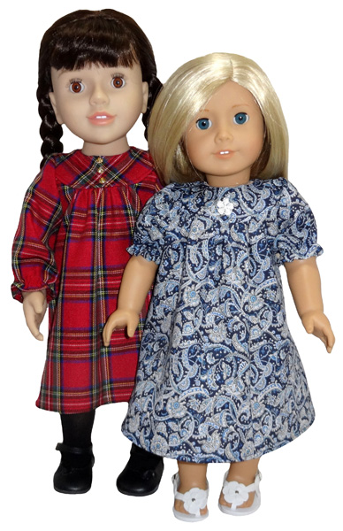 18 Inch American Girl Doll Clothes Patterns Summer Dress short and long sleeve
