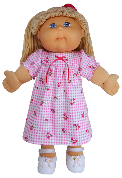 Cabbage Patch Kids winter nightie short sleeve doll clothes pattern