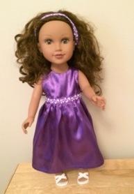 Summer Dress Purple Marilyn