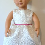 Evening gown dress for 18 inch Journey Girl Doll