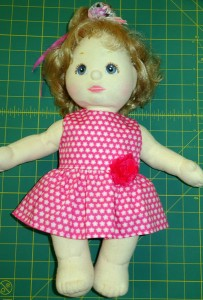 Crop Top with Summer Dress Shortened doll clothes pattern