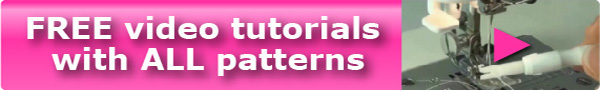 Free video tutorials with every pattern