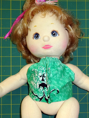 Halter Top doll clothes pattern