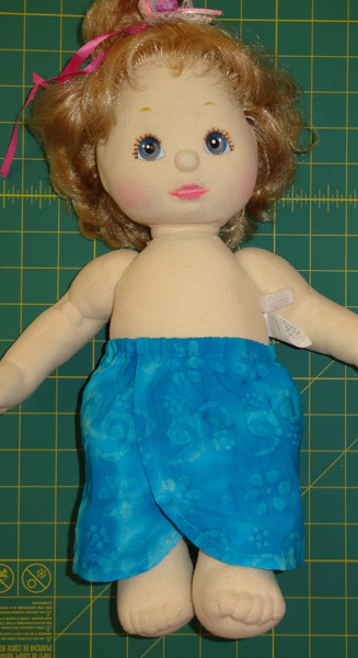 Sarong doll clothes pattern