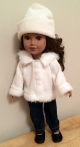 marilynn fur trimmed jacket and beanie