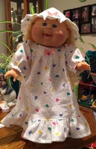 Lisa Braegger cabbage patch winter nightie and hat pattern