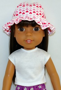 Frill Hat pattern Wellie Wishers Doll