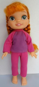 Tights and t-shirt pattern Disney Toddler Doll