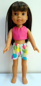 crop top and short pattern Wellie Wishers Doll
