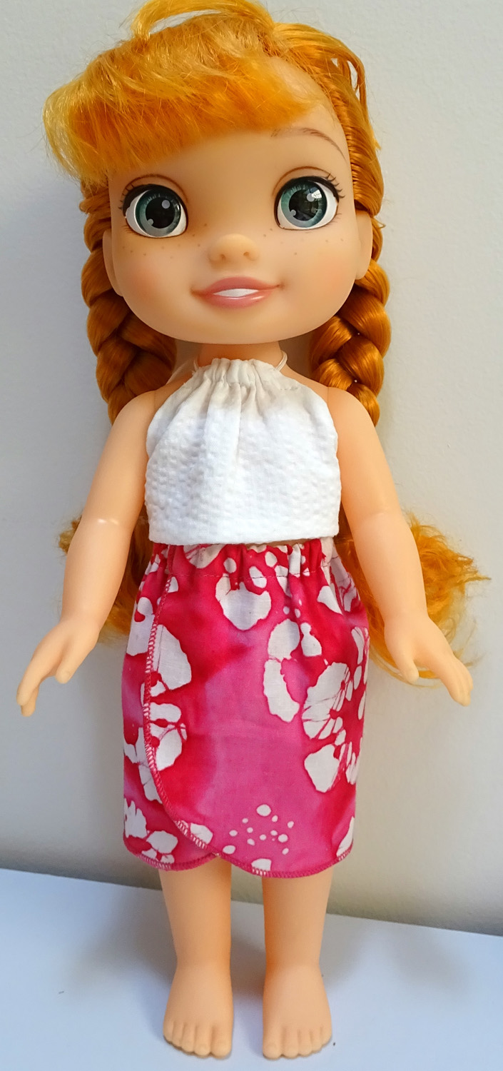 halter top and sarong pattern Disney Toddler Doll