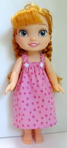 summer nightie pattern Disney Toddler Doll