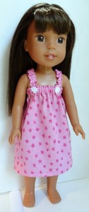 summer nightie pattern Wellie Wishers Doll