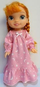 winter nightie pattern Disney Toddler Doll