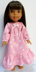 winter nightie pattern Wellie Wishers Doll