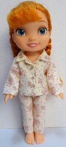 winter pyjamas pattern Disney Toddler Doll
