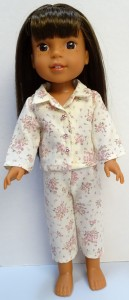winter pyjamas pattern Wellie Wishers Doll