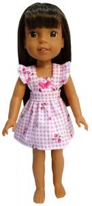 pinafore dress pattern Wellie Wishers Doll