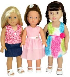 18 Inch American Girl Dolls summer dress pattern variations