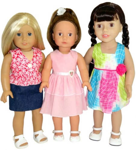 18 Inch American Girl Dolls summer dress pattern variations