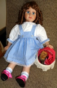 Chris Dorothy outfit on handmade doll