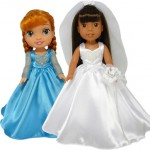 Disney Toddler and Wellie Wishers Doll Wedding Dress Patterns