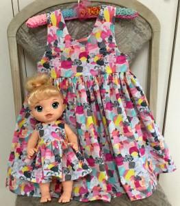 Resized summer dress and granddaughter dress helen mckee