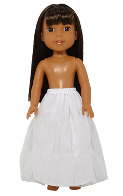 Wellie Wishers Doll wedding petticoat pattern