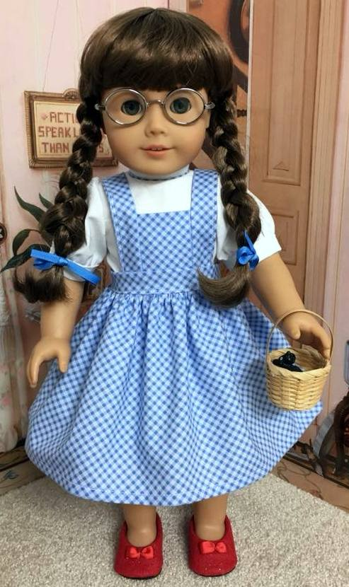 Cindy Brown Pinafore Dress pattern Dorothy