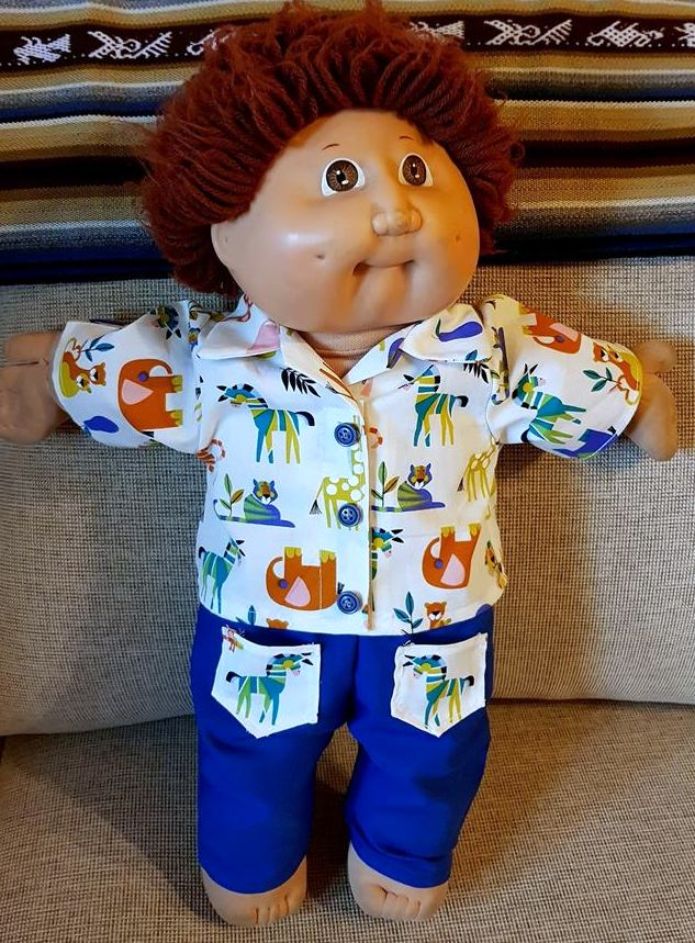 Jo Featherson Cabbage Patch shirt and shorts Howard