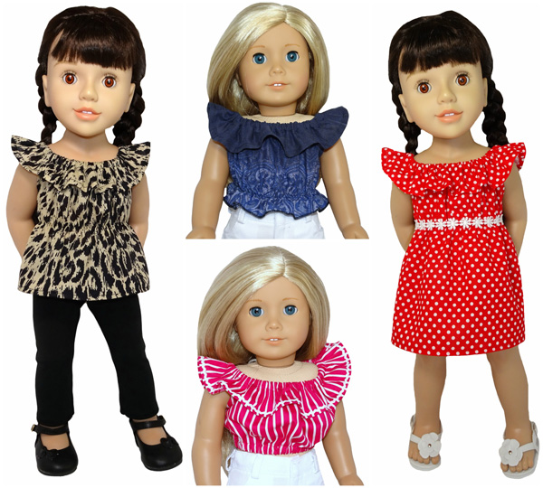 18 Inch American Girl Doll Clothes Patterns Fun and Friily Top