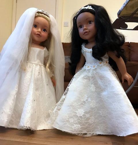 Angela Brown 18 Inch American Girl Wedding dress pattern
